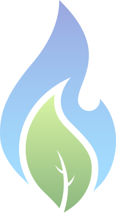 iroquois gas flame & leaf